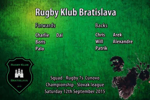 Senior squad starting match Cunovo sept 2015