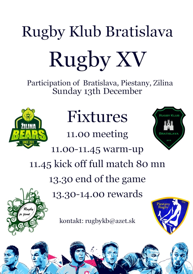 Rugby XV event 7s Open day Dec 2015 RKB fixtures