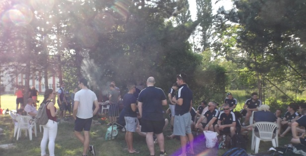 Barbecue with Bratislava rugby and Birkenhead