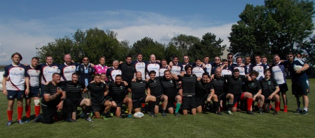 Group picture Rugby Klub Bratislava - Rugby Club Birkenhead