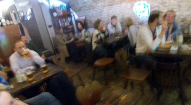 Friendly place in Stare Mesto Bratislava, to grab a beer and watch rugby, what's else?