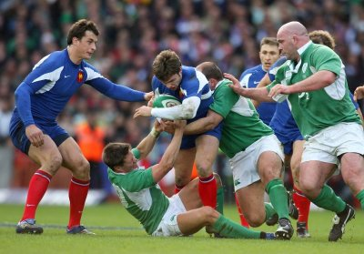 Vincent Clerc scoring the winning try, at the very last moment