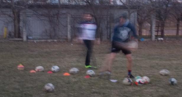 Julius Kompass - passes drills - Rugby Klub Bratislava