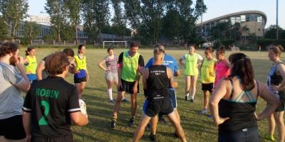 tréning slovenskej ženskej reprezentácie v rugby 7s