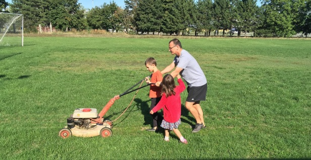 Rugby Klub Bratislava - mower pitch maintenance