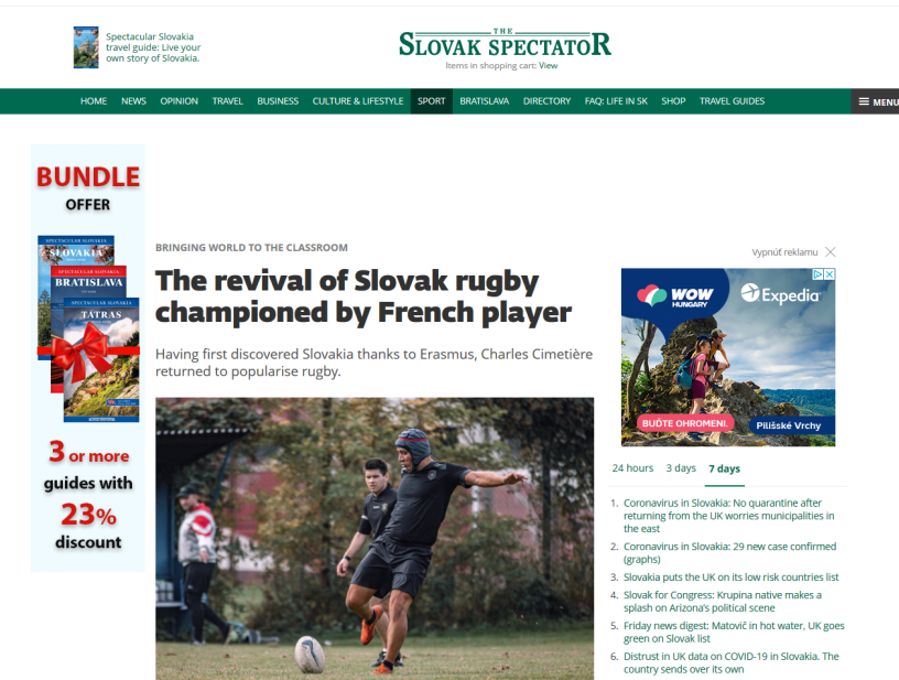 Slovak Spectator Rugby Bratislava Slovensko - Charles CIMETIERE