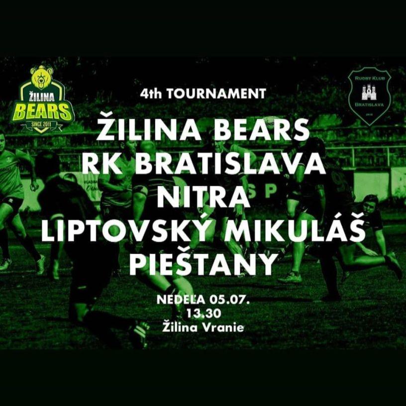 Rugby Klub Bratislava Slovakia Slovensko Zilina bears Nitra Liptovsky Mikulas Piestany tournament